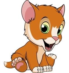 Cute funny kitten vector