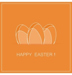 easter card with eggs vector image vector image