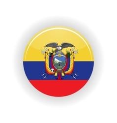 Ecuador icon circle vector image