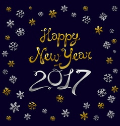 Happy new year card gold template over black vector
