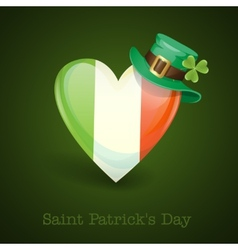 Irish Flag In The Shape Of A Heart vector image