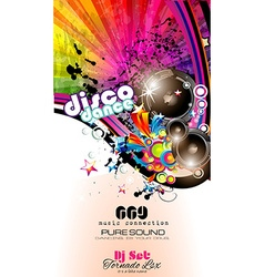 PArty Club Flyer for Music event with Explosion of vector image vector image
