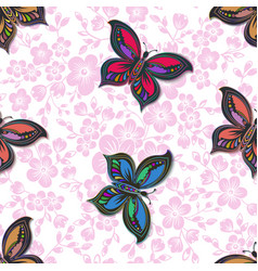 Sakura flower seamless pattern vector