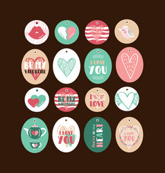 set of cute gift tags vector image vector image