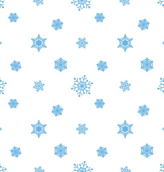 Snowflake blue white background vector