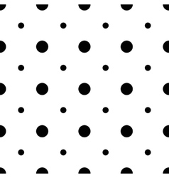 Unusual big and small polka dot seamless pattern vector image vector image