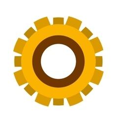 yellow silhouette gear wheel icon vector image