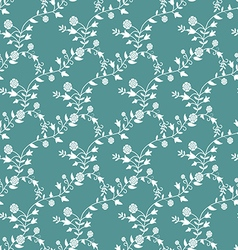 Pattern in vintage style with flowers and twigs vector image