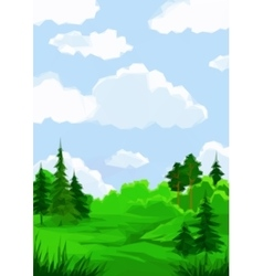 Landscape summer forest vector