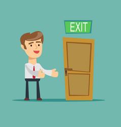 Businessman has found exit concept vector