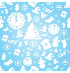 New year xmas pattern vector