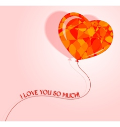 Love heart balloon vector