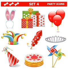 Party icons set 4 vector