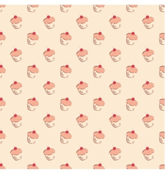 Sweet hand drawn cherry cake decoration wallpaper vector