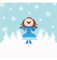 Chrismas snow child vector