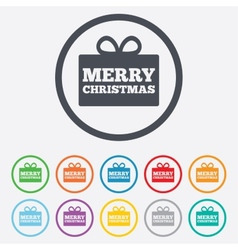 Merry christmas gift sign icon present symbol vector