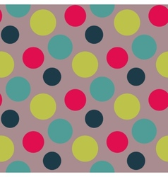 Pattern with green grey polka dots vector image