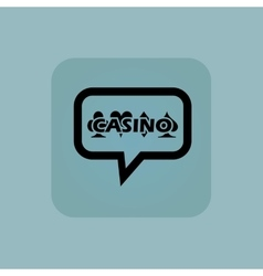 Pale blue casino message icon vector
