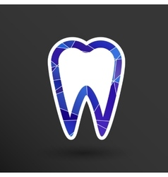 Icon toothache sign line clinic symbol vector