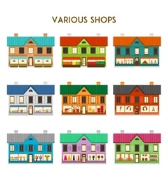 Various shops vector
