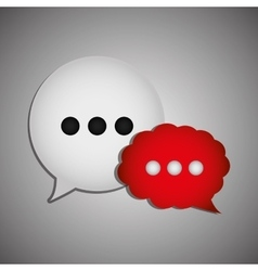 Chat speech bubbles vector