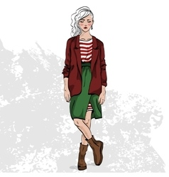 Fashion look color vector