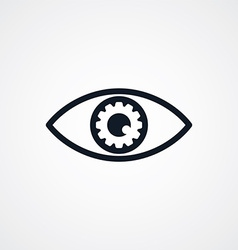 Fix eye setting symbol theme vector