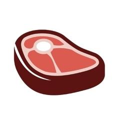 Flat steak icon on white background vector