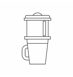 Mug for coffee icon outline style vector