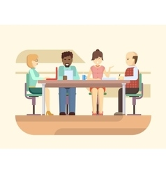 Business briefing vector image vector image