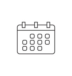 Calendar icon outline vector
