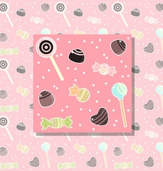 candy pattern vector image vector image