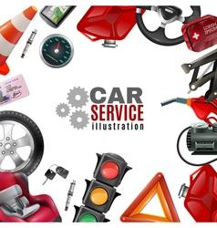 Car Service Template vector image