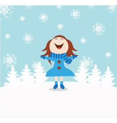 Chrismas snow child vector