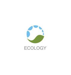 circle ecology logo vector image