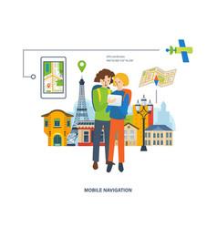 concept - travel mobile navigation vector image