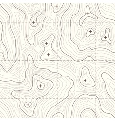 Contour elevation topographic seamless map vector image vector image