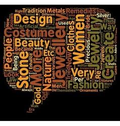 Costume jewellery text background wordcloud vector