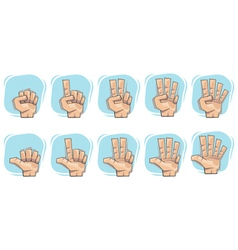 doodle hand number sign icons vector image vector image