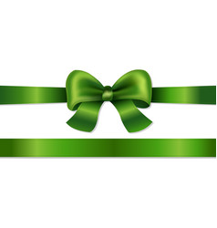 Green bow isolated vector