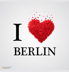 i love berlin heart sign vector image vector image