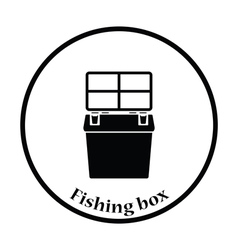 Icon of Fishing opened box vector image vector image