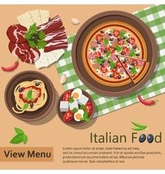 Italian food vector image