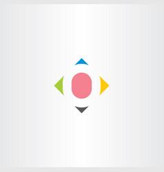 Letter o colorful symbol element vector