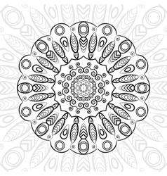 mandala highly detailed zentangle ethnic tribal vector image vector image