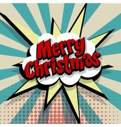 Merry Christmas blue color background vector image