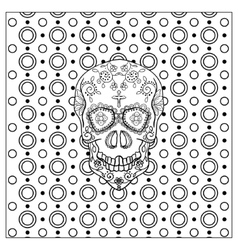 Mexican Day Of The Dead Skull vector image vector image