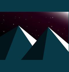 moon night mountain background vector image