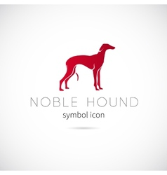 Noble hound silhouette symbol icon or label vector