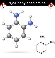 Ortho Phenylenediamine chemical structure vector image